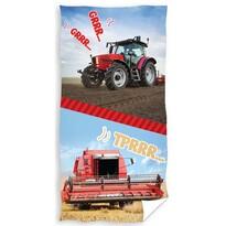 Gyerek törülköző Traktor és kombájn, 70 x 140 cm