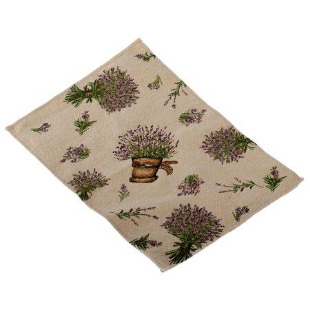 Prostírání Levandule v květináči béžová, 48 x 33 cm