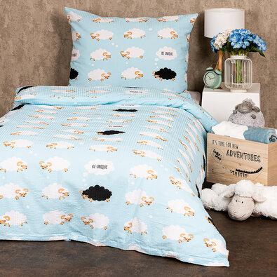 Lenjerie de pat 4Home Black sheep, din crep 140 x 200 cm, 70 x 90 cm