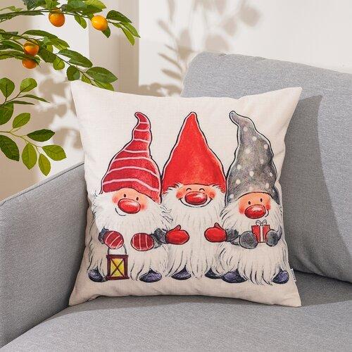 4Home párnahuzat Christmas Dwarfs, 45 x 45 cm