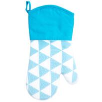 Domarex Silikonowa rękawica kuchenna Home Chef niebieska, 30 cm