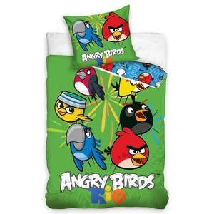 Dětské bavlněné povlečení Angry Birds Rio Mix, 140 x 200 cm, 70 x 80 cm