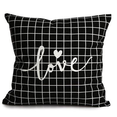 Altom Povlak na polštář Love Black, 40 x 40 cm