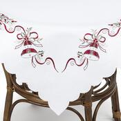 Vánoční ubrus Zvonečky bílá, 40 x 90 cm