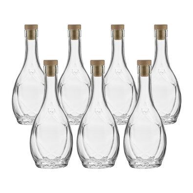 Skleněná láhev se zátkou Colina 250 ml, 7 ks