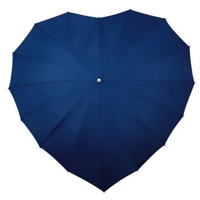 Dámský holový deštník srdce Heart tm.modrá