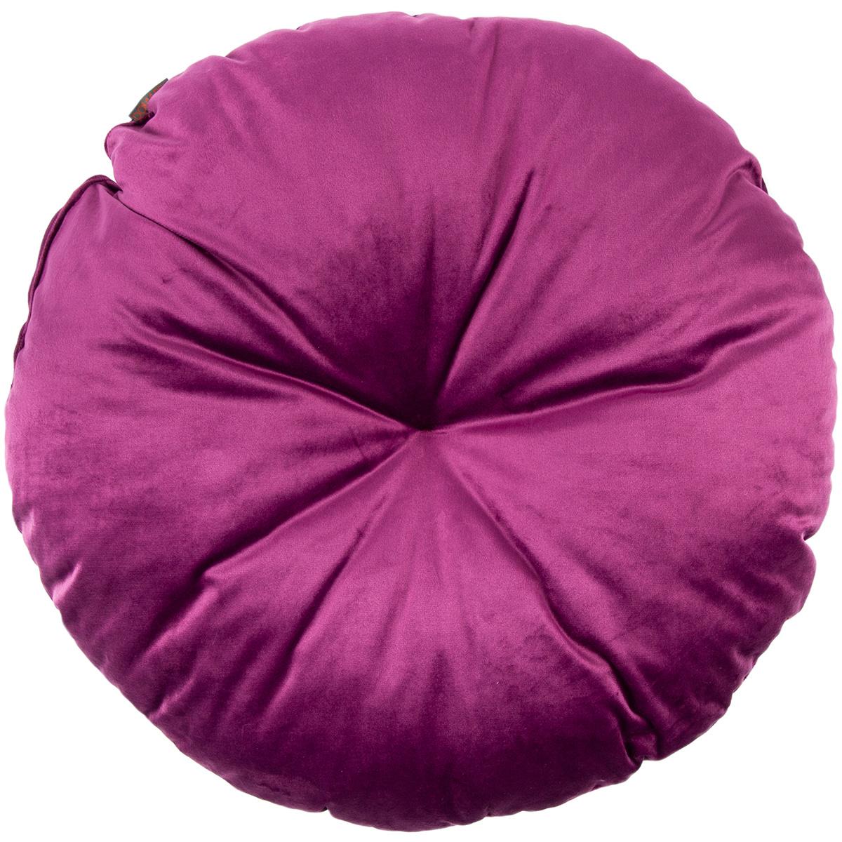 Domarex Polštář kulatý Velvet fialová, 50 cm