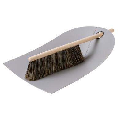 Lopatka a smetáček Dustpan & Broom, světle šedá