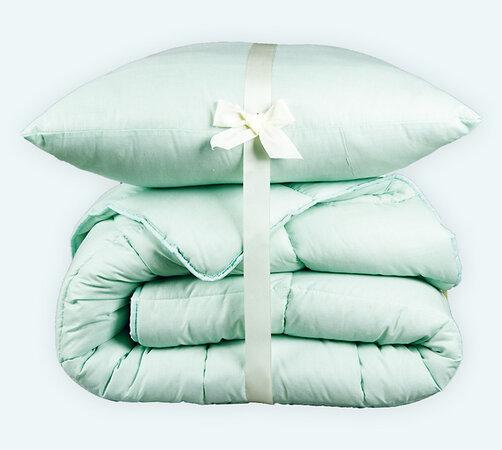 Set přikrývky a polštáře letní Standard zelená, 140 x 200 cm, 70 x 90 cm