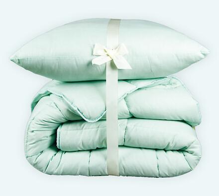 Set přikrývky a polštáře Standard zimní zelená, 140 x 200 cm, 70 x 90 cm