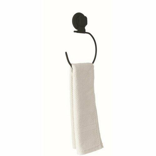 Malý věšák na ručníky Compactor Bestlock Black s přísavkou - bez vrtání, nosnost až 6 kg
