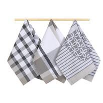 Bellatex Stripe törlőruha, szürke-fehér, 50 x 70 cm, 3 db-os szett
