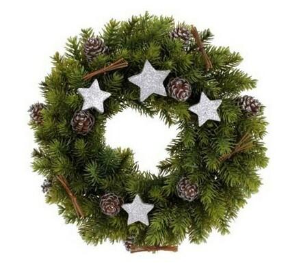Luxusní vánoční věnec, zelená