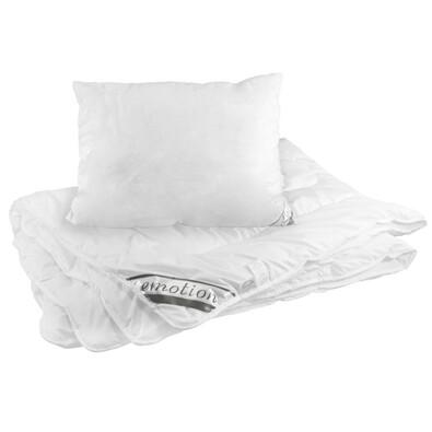 Zestaw poduszki i kołdry Emotion Calme, białe, 140 x 200 cm, 70 x 90 cm