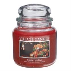 Village Candle Vonná svíčka, Šťastné Vánoce - Happy Holidays, 397 g, 397 g