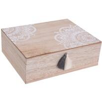 Koopman Zestaw pudełek dekoracyjnych Mandalei, 2 szt.