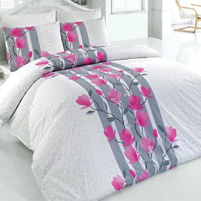 Bavlněné povlečení Carmine bílá, 140 x 220 cm, 70 x 90 cm + 50 x 70 cm