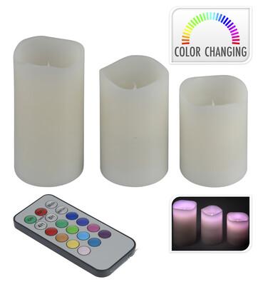 LED svíčka 3 ks