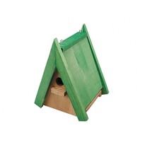 Căsuță de păsări Pițigoi, din lemn, nr. 3, 24 x 18,5 x 16,5 cm