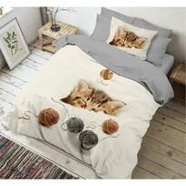 Kvalitex Kitten 3D pamut ágynemű, 140 x 200 cm, 70 x 90 cm