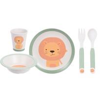5 részes gyermek étkészlet, Oroszlán