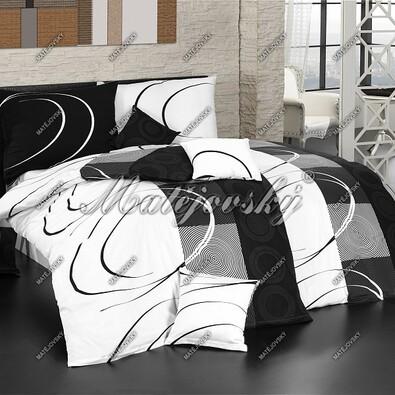 Matějovský bavlněné povlečení Royal black, 220 x 210 cm, 2 ks 70 x 90 cm