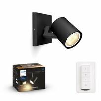 Philips Hue 53090/30/P6 bodové LED svietidlo s diaľkovým ovládačom Runner 5,5 W, čierna