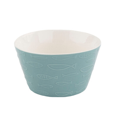 Keramická miska Fish 570 ml, modrá
