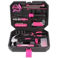 Sixtol Zestaw narzędzi Home Pink, 66 szt.