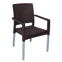 Zahradní stohovatelná židle Ratan Lux, wenge