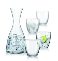Bohemia Crystal Sada 4 pohárov s karafou Water , 1200 ml