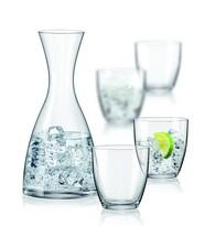 Bohemia Crystal Sada 4 sklenic s karafou Water , 1200 ml