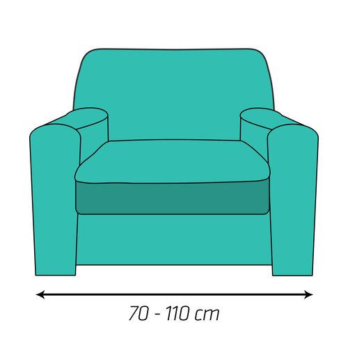 4Home Multielastický potah na křeslo béžová Elegant, 70 - 110 cm