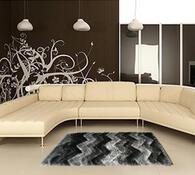 Kusový koberec Istanbul S3630, černá, 80 x 150 cm