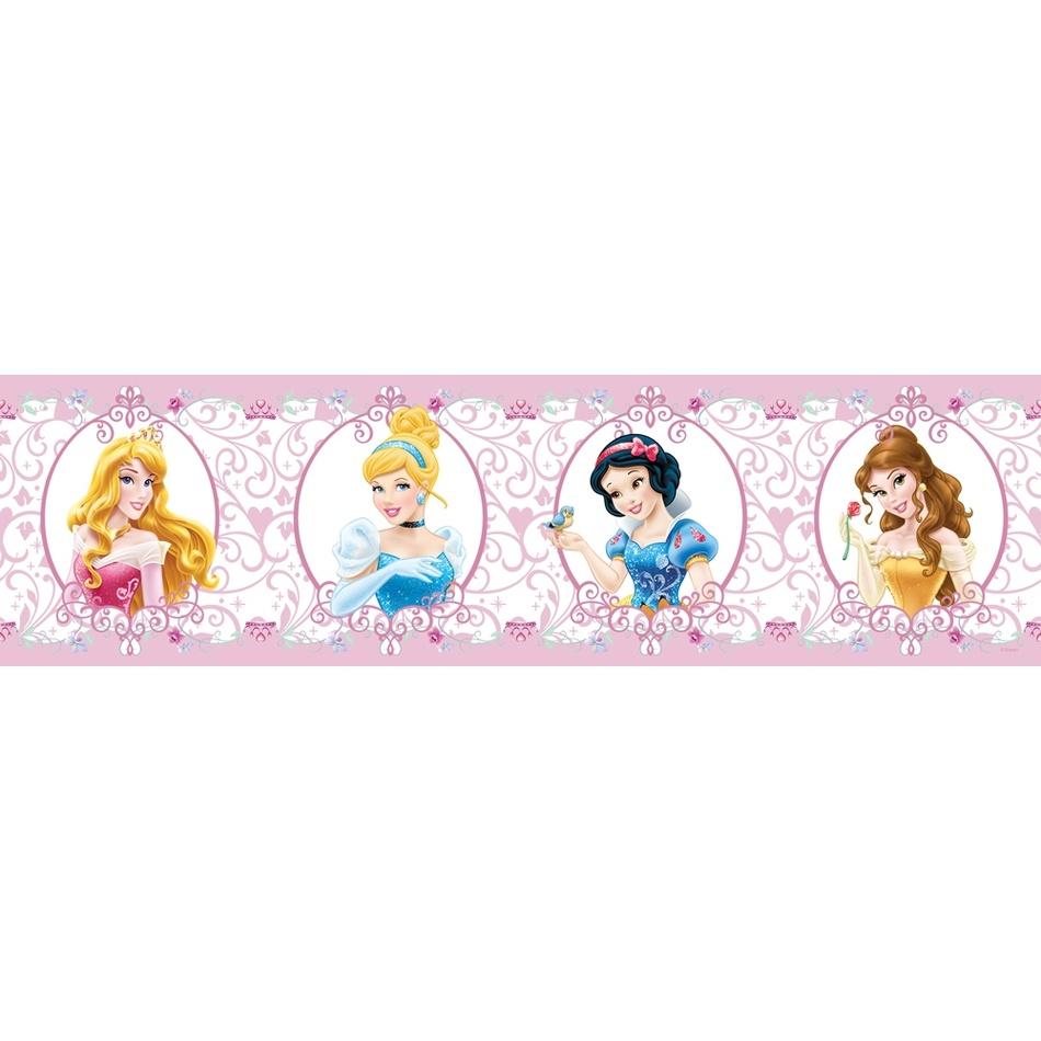AG Art Samolepicí bordura Princezny , 500 x 14 cm