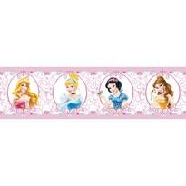 Samolepicí bordura Princezny, 500 x 14 cm