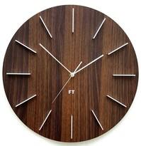 Future Time FT2010WE Round dark natural brown Designové nástenné hodiny, pr. 40 cm