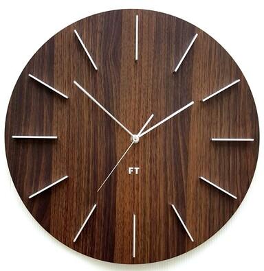 Future Time FT2010WE Round dark natural brown Design falióra, 40 cm