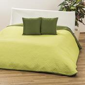Přehoz Vigo světle zelená/zelená, 220 x 240 cm, 2 ks 40 x 40 cm