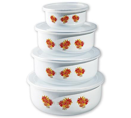 Banquet Belly-Astra smaltované misky na potraviny 4 ks