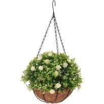Koopman Umělá květina v závěsném květináči Althea, 20 cm