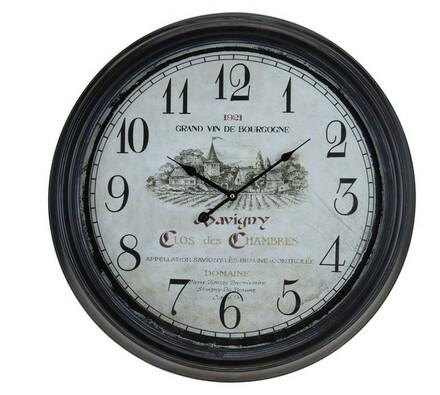 Kovové nástěnné hodiny s fancouzským designem Bour