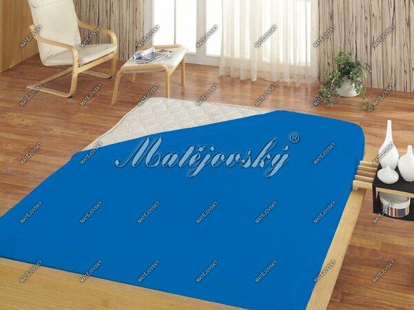Matějovský froté prostěradlo středně modrá, 160 x 200 cm