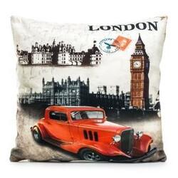 Povlak na polštářek London City car, 45 x 45 cm