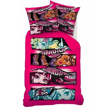 Dětské bavlněné povlečení Monster High Teens, 140 x 200 cm, 70 x 90 cm
