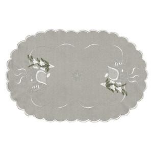 Vánoční ubrus chaloupky šedá, 30 x 45 cm