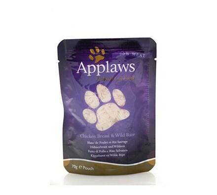Applaws kapsička pro kočky 70g - kuřecí prsa a div