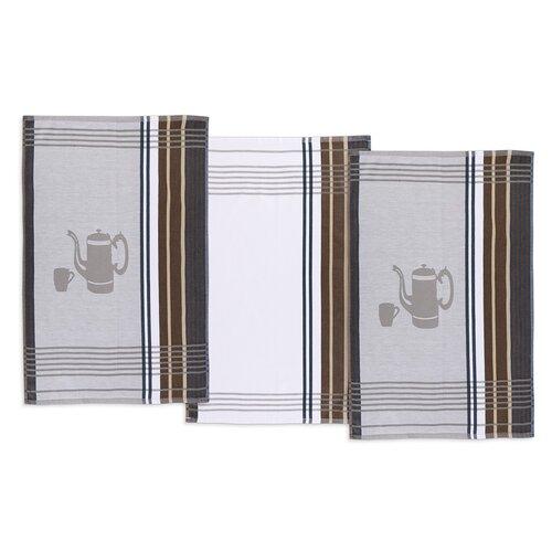 Prosop de bucătărie, ceainic, gri, 50 x 70 cm, set 3 buc.