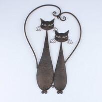 Metalowa dekoracja na ścianę Cats, 52 cm