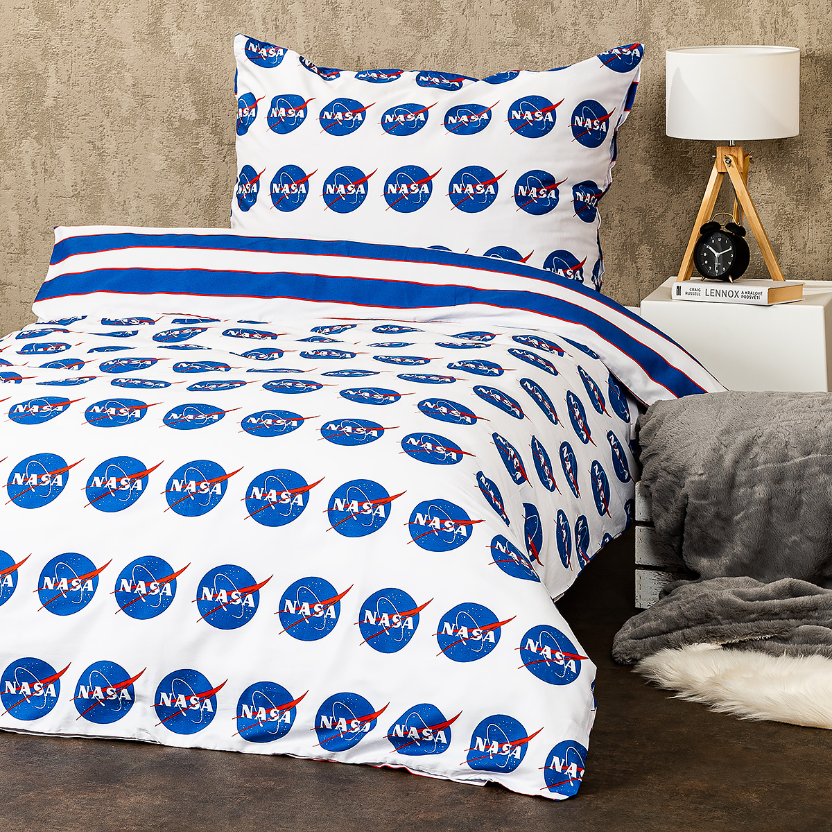 Tiptrade Saténové obliečky NASA, 220 x 200 cm, 2 ks 70 x 90 cm, 220 x 200 cm, 2 ks 70 x 90 cm